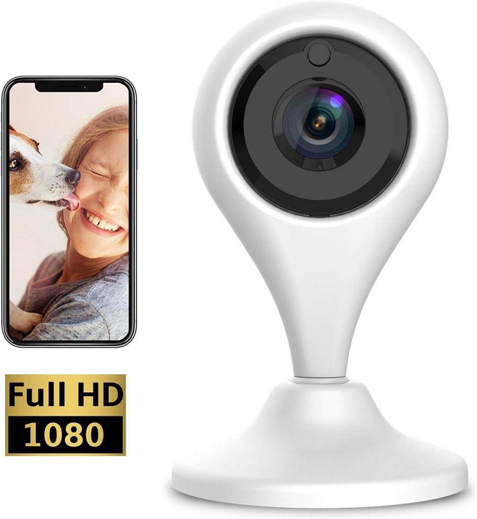 Keyke Cámara Vigilancia WiFi 1080p, Cámara IP Interior, Sistema de Vigilancia, Visión Nocturna, Alertas de Movimiento, Audio Bidireccional Servicio de Nube - App iOS/Android